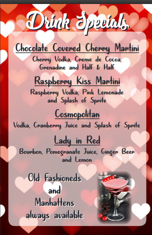 Valentines Day Menu original pt 1